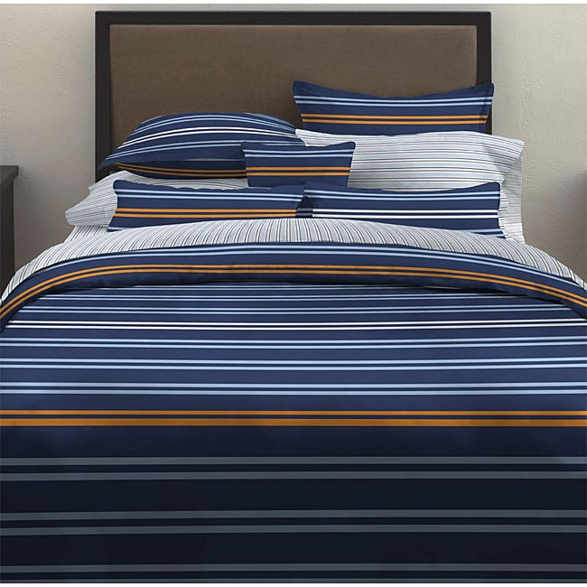 Oxford Stripe 7-piece Bed in a Bag with Sheet Set