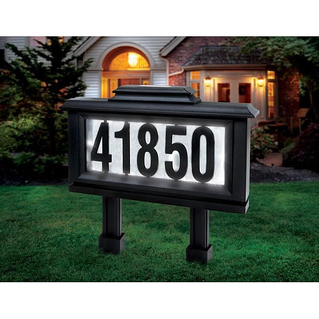 Sarah Peyton Outdoor Solar LED Address Plaque