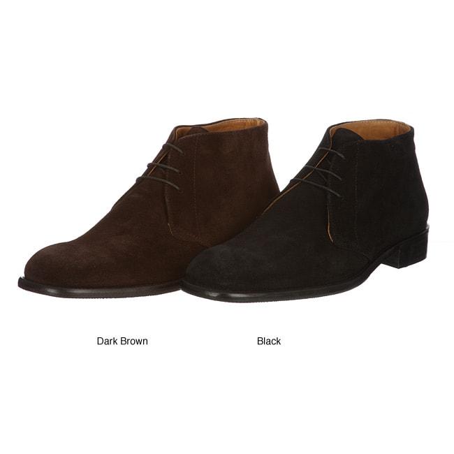 Pitti Men's 'Brotton' Italian Suede Leather Oxfords