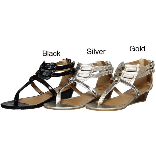 e8ed8fa82c13 Shop Bucco Women s Gladiator Thong Sandals - Free Shipping On Orders Over   45 - Overstock - 4871633