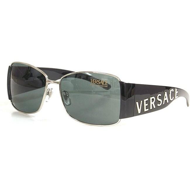 f6359b1a07da0 Shop Versace Women s 2079B Black Oversized Sunglasses - Free Shipping Today  - Overstock - 4875020