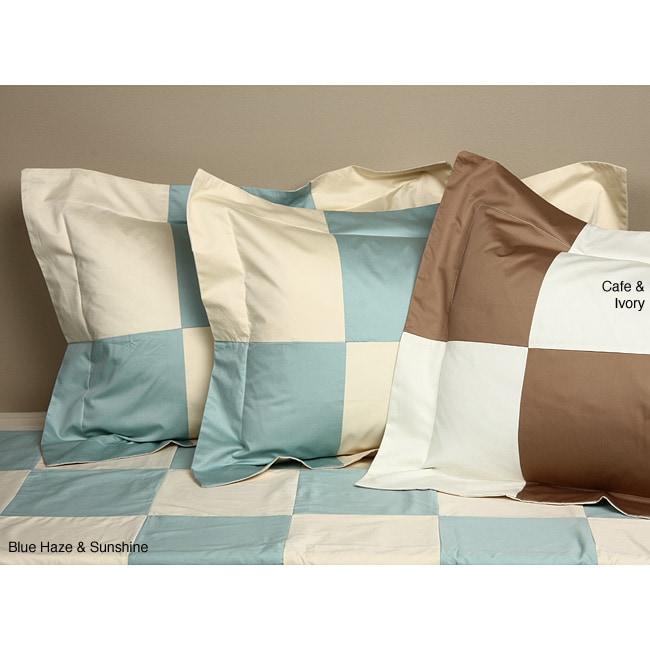 Patchwork Cotton 500 Thread Count 3-piece Duvet Cover Set