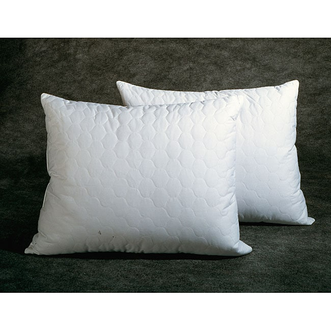 quilted feather down pillows set of 2 standard queen king