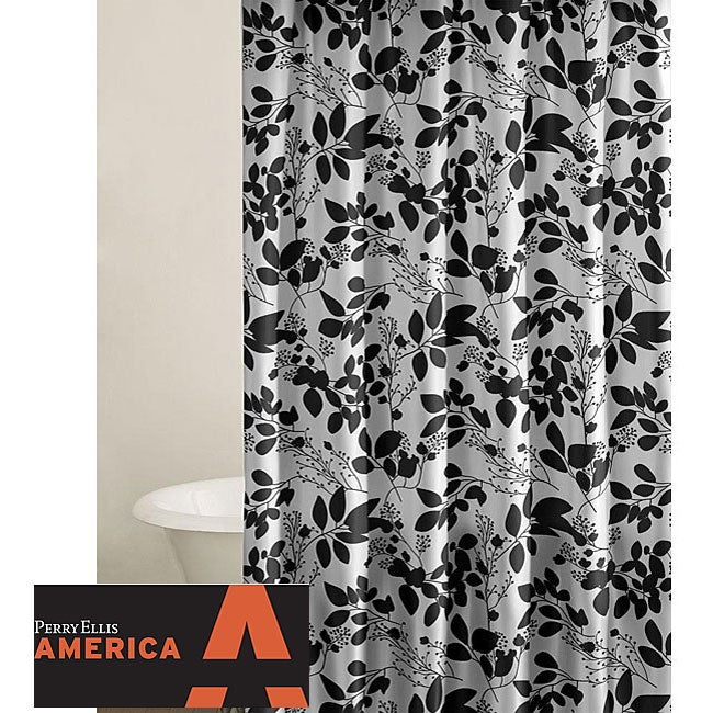 Perry Ellis Romance Floral Shower Curtain