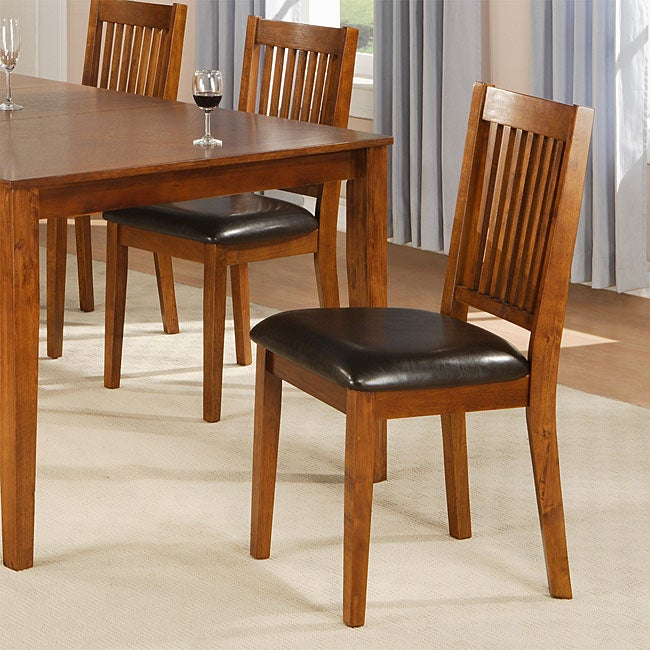Beauville 18-inch Mission Oak Dining Chairs (Set of 2)