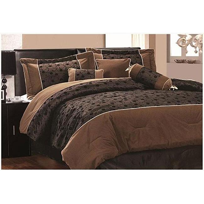 Luxor Flocked 7-piece Comforter Set