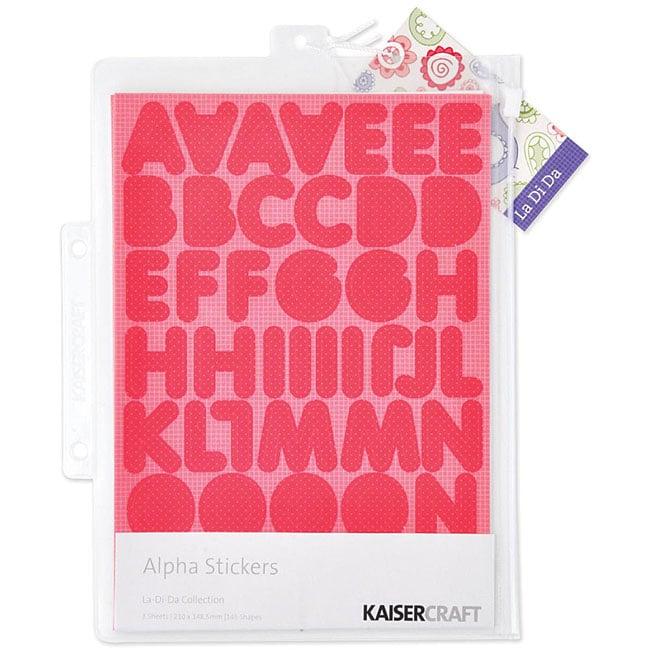 La-Di-Da Alphabet Stickers (3 Sheets)
