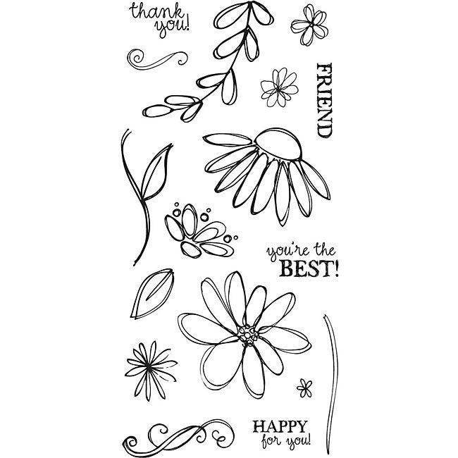 Fiskars Petals From Scratch 4x8 Clear Stamps