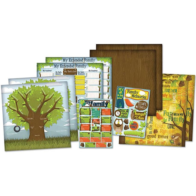 Family Tree Scrapbook Page Kit