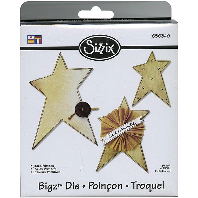 Sizzix Bigz BIGkick/ Big Shot 'Primitive Stars' Die