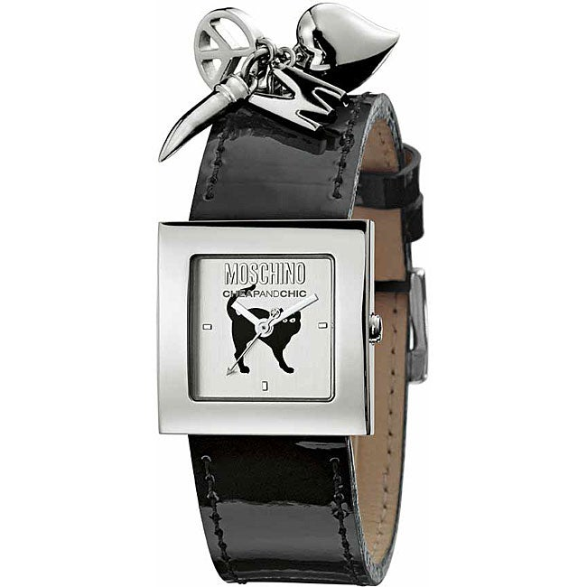 Shop Moschino Women s Charm Black Cat Watch - Free Shipping Today ... 84141ec031