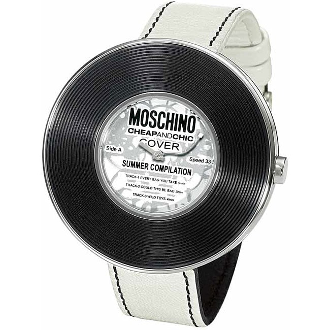 Moschino Women's 'Time 4 Music' White Leather Watch