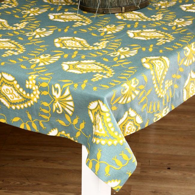 French Country Paisley Print 60 Inch Tablecloth