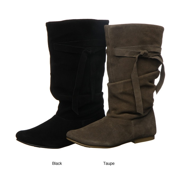 Mia Women S Bonjou Mid Calf Suede Slouch Boots Free