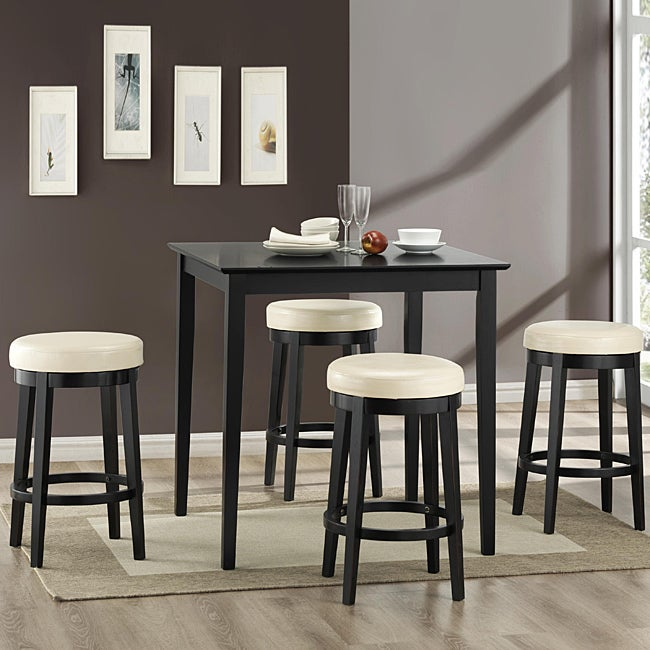 Counter Height White Dining Set : Danville 5-piece White Counter-height Dining Set - Free Shipping Today ...