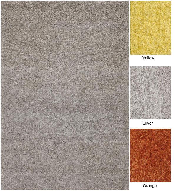 Hand-woven Mandara Shag Wool Rug (7'9 Round)