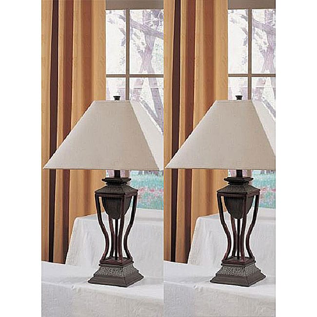 Zentic 3-inch Antique Finish Table Lamps (Set of 2)