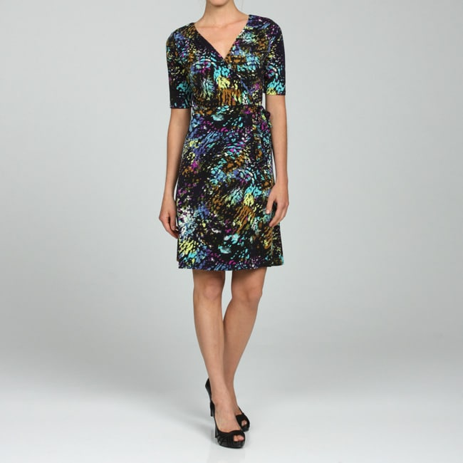 f9d250d235 Lily Women's Printed Short-sleeve Wrap Dress