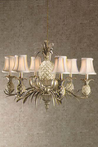 Pineapple Six Light Chandelier Free Shipping Today Overstock Com 129087