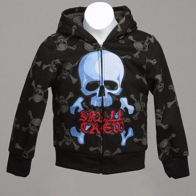 Xtreme Boy's Skull and Crossbones Hooded Jacket