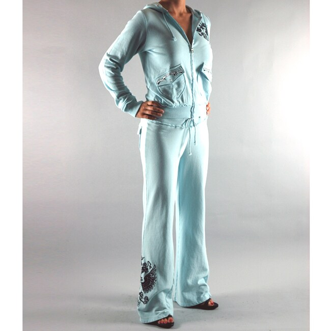 Institute Liberal Women's Blue French Terry Jogging Set