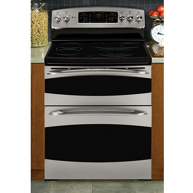 ge profile steel 30inch electric range double oven