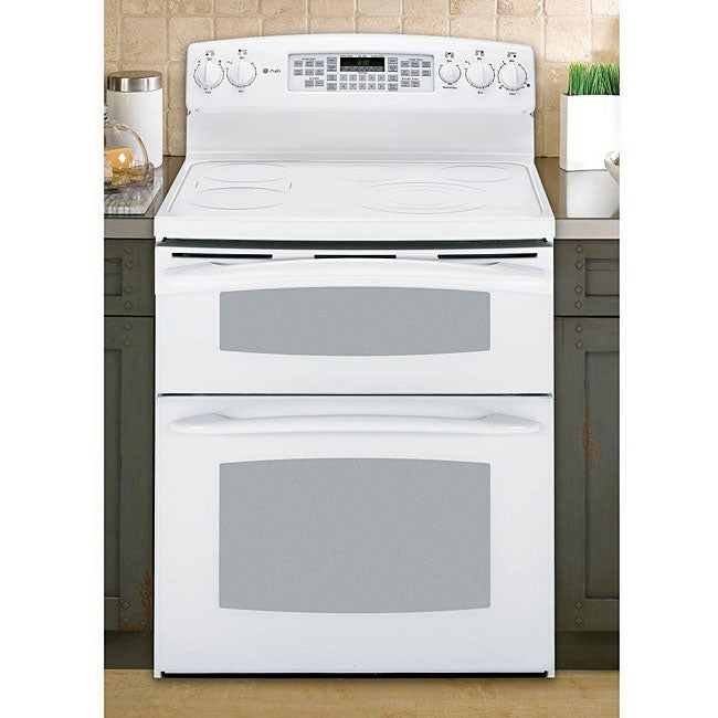 Ge Profile White 30 Inch Freestanding Electric Range Double Oven Free Shipping Today 5036229