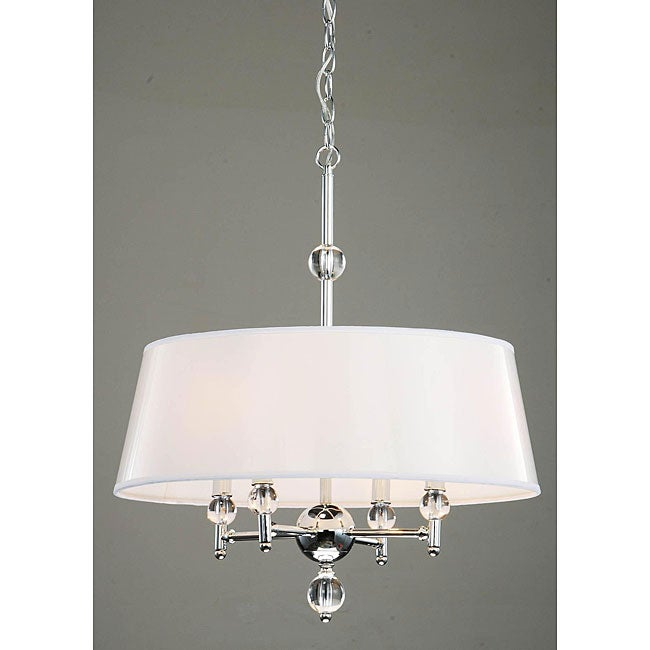 4light White Shade and Crystal Chrome Chandelier Free Shipping – 4-light Chrome Crystal Chandelier