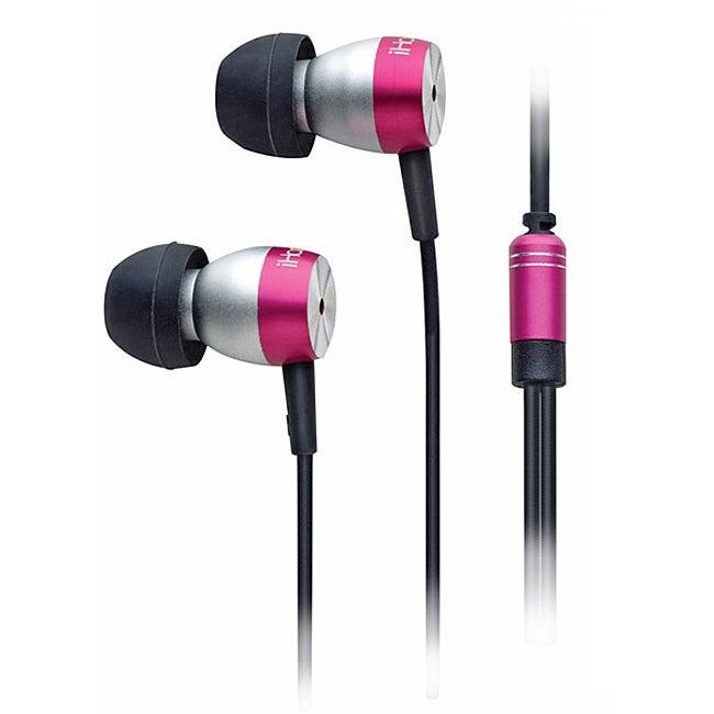 8599ef83857 Shop iHome Pink Noise-Isolating Metal Earphones With iPod Control ...