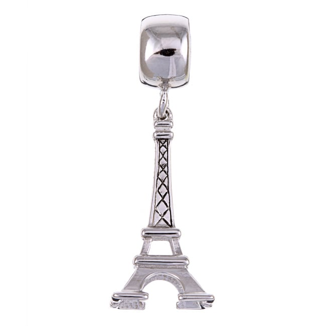 Sterling Essentials Sterling Silver Eiffel Tower Dangle Charm