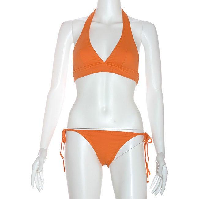 Cot'n by Lucenti Women's Orange Halter String Bikini