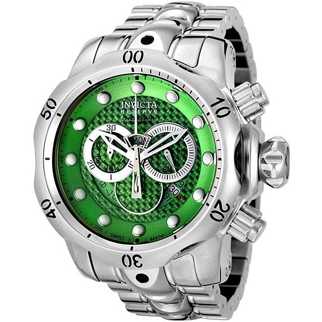 Invicta Men's Reserve/ Venom Green Dial Chronograph Watch