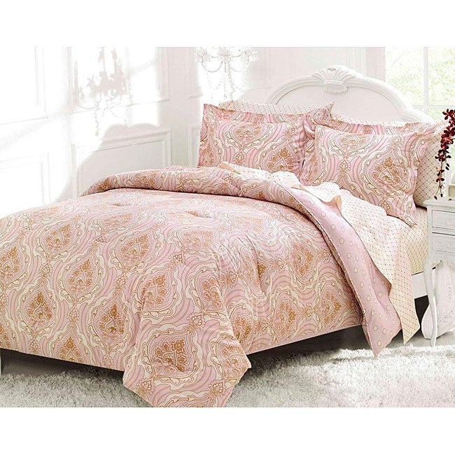 Joelle Queen-size 7-piece Bed in a Bag with Sheet Set