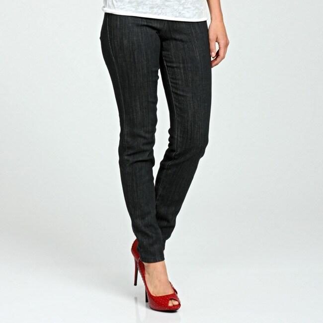 Big M Women's Long Grey Denim Pull-on Pants