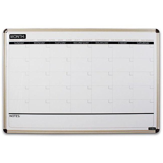 Board Dudes 23x35 Inch Magnetic Dry Erase Calendar Board