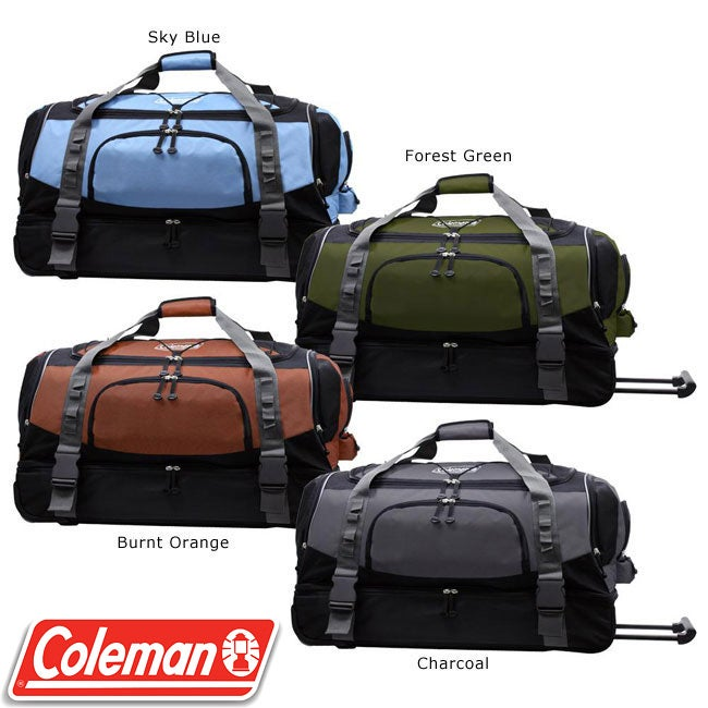 Coleman Tracker 30-inch Drop-bottom Rolling Duffel Bag
