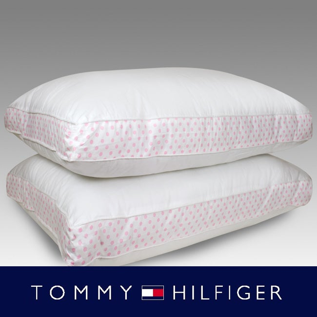 Tommy Hilfiger Stephanie Dot 200 Thread Count Pillows (Set of 2)