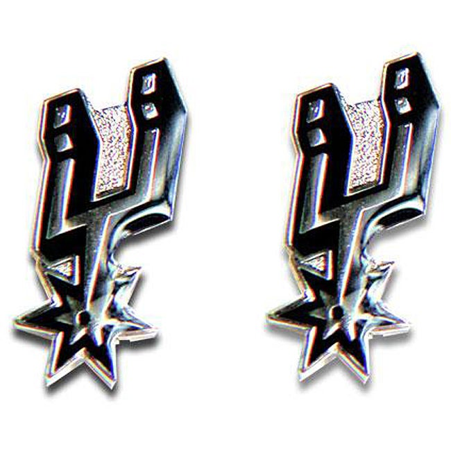 San Antonio Spurs NBA Charm Post Stud Logo Earring Set