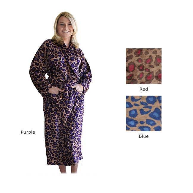Women's Microluxe Cheetah Robe