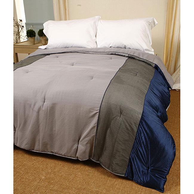 Basic Blue Border Comforter