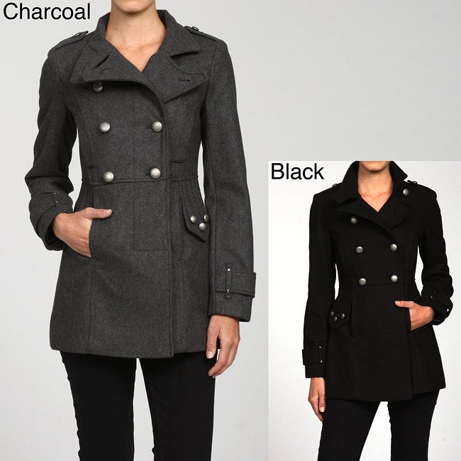 33fbf2e8 Shop Buffalo Women's Double Breasted Military Peacoat FINAL SALE - Free  Shipping On Orders Over $45 - Overstock - 5072763