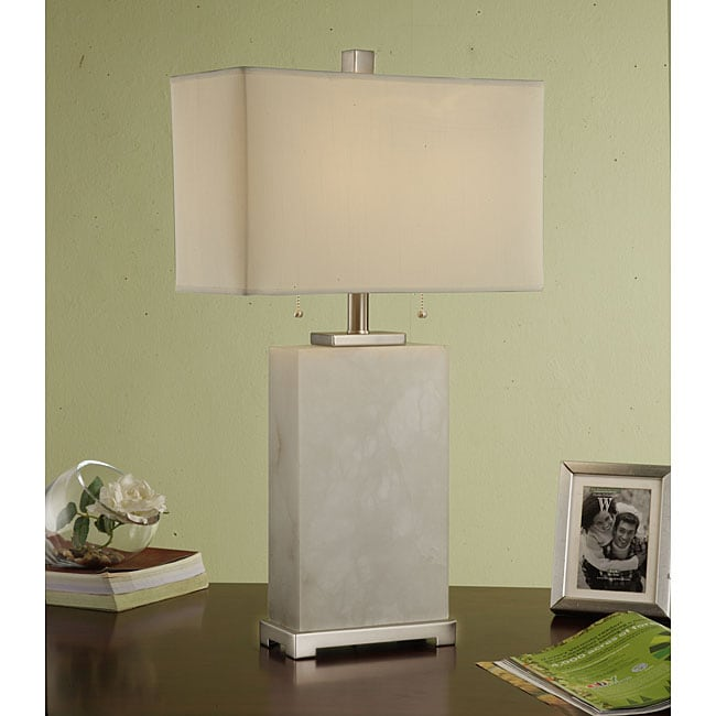 Indoor 2-light Tall MarbleTable Lamp