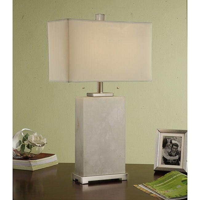 Indoor 2-light Tall MarbleTable Lamp
