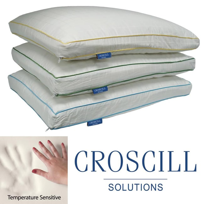 shop croscill extra firm density memory foam pillow free shipping on orders over 45. Black Bedroom Furniture Sets. Home Design Ideas