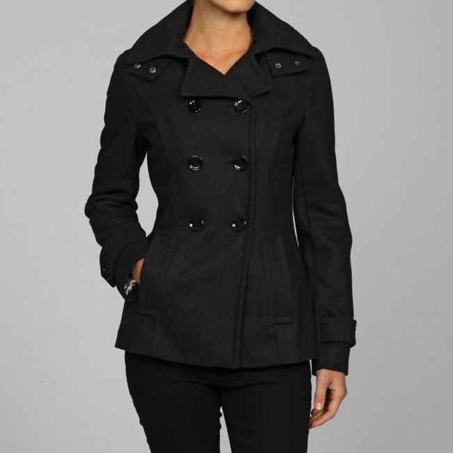 Calvin Klein Women&39s Double-breasted Hooded Peacoat - Free