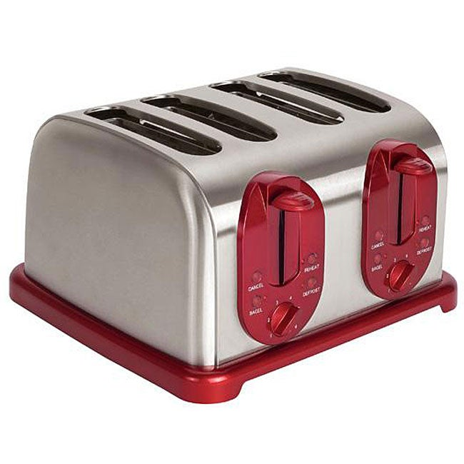 Kalorik Red 4-slice Toaster - Thumbnail 0