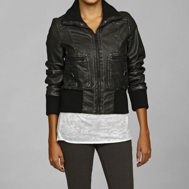 Levi S Women S Metallic Faux Leather Bomber Jacket