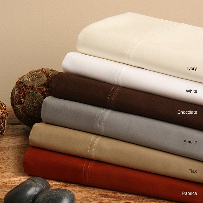 Pima  Ivory 600 Thread Count Queen-size Duvet Cover Set