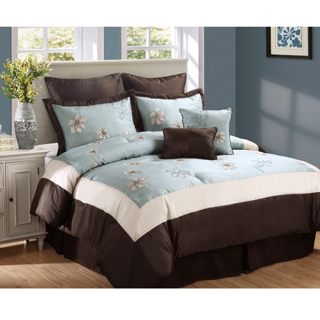 Lilliana Blue 8-piece Comforter Set