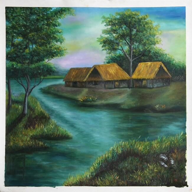 Nguyen Van Hai 'Ben Song' Canvas Painting (Vietnam)